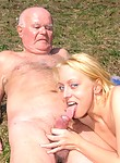 90 year old grandpa fucking a blonde