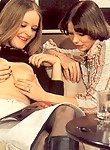 Two horny retro lesbians getting dirty